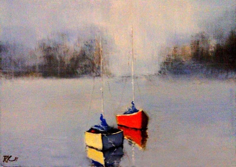 """Serene Lake"" original fine art by Bob Kimball"