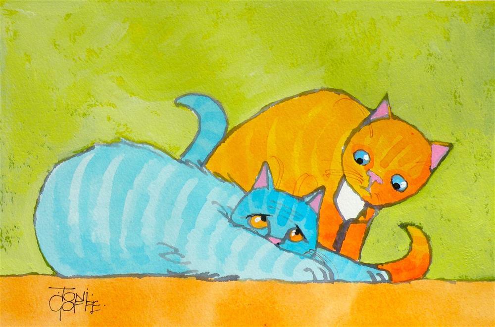 """Silly"" original fine art by Toni Goffe"