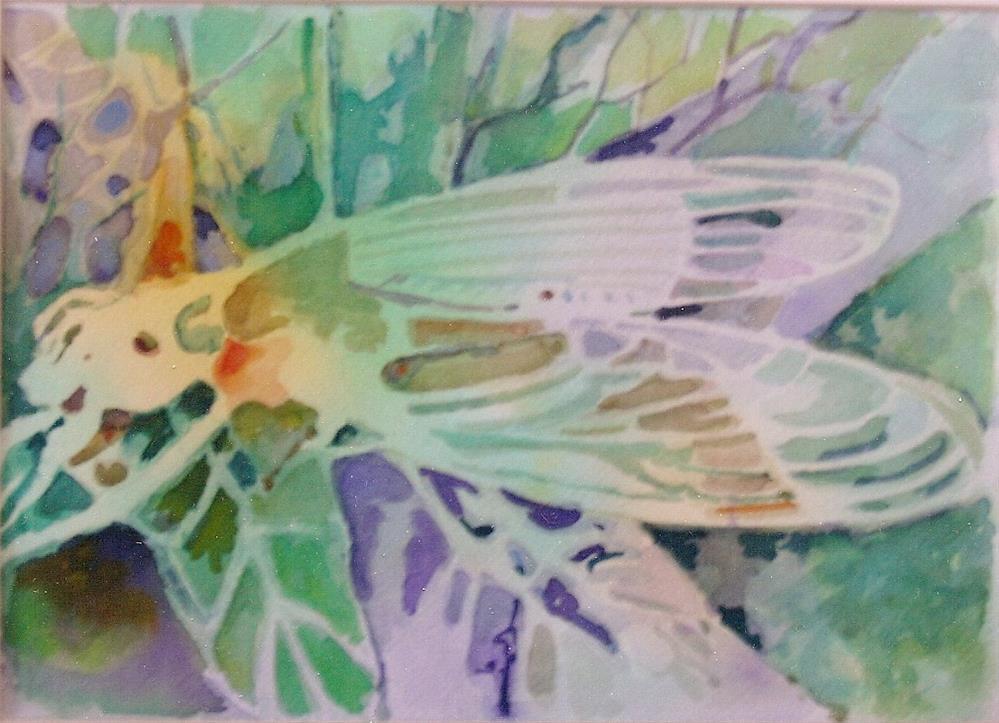 """summer visitor"" original fine art by meribeth coyne"