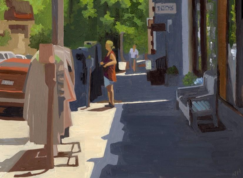 """""""Feeding the Meter"""" original fine art by Nancy Herman"""
