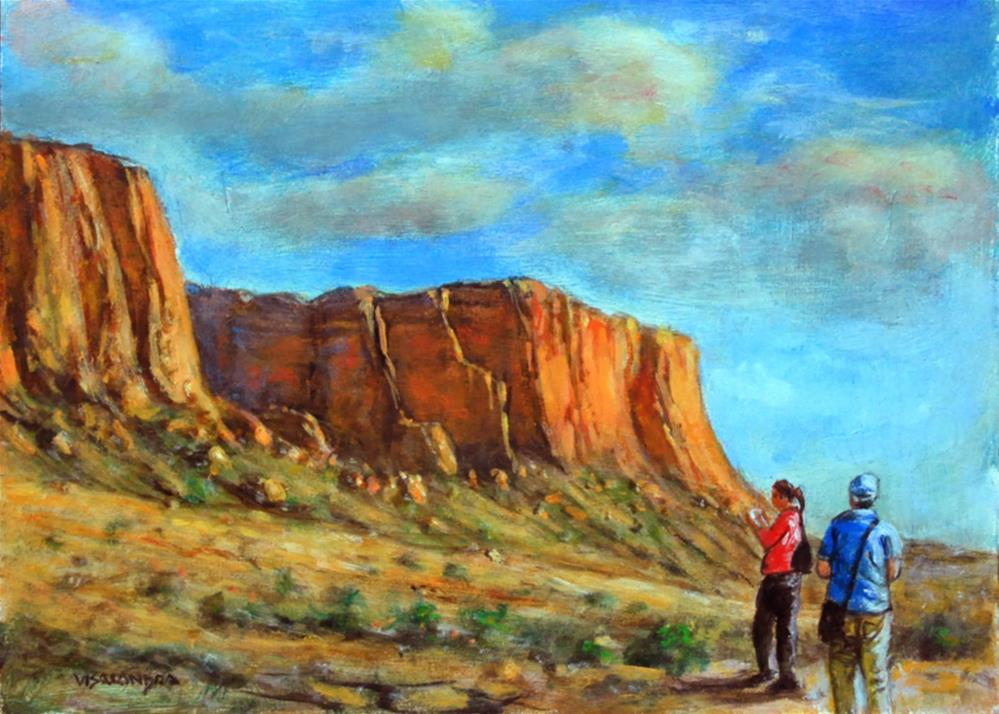 """Arizona tourists 1"" original fine art by vishalandra dakur"