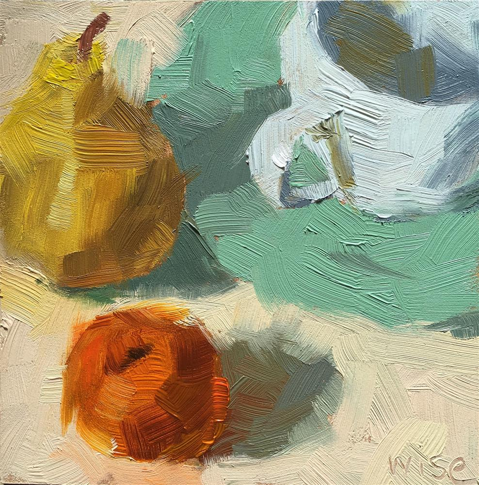 """""""Pear Time"""" original fine art by Tracy Wise"""