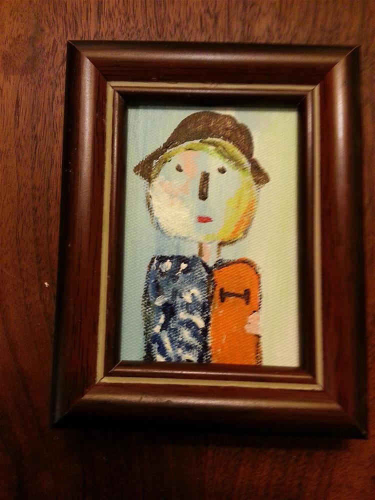 """Mini Marcie's Buddy"" original fine art by Jo Allebach"
