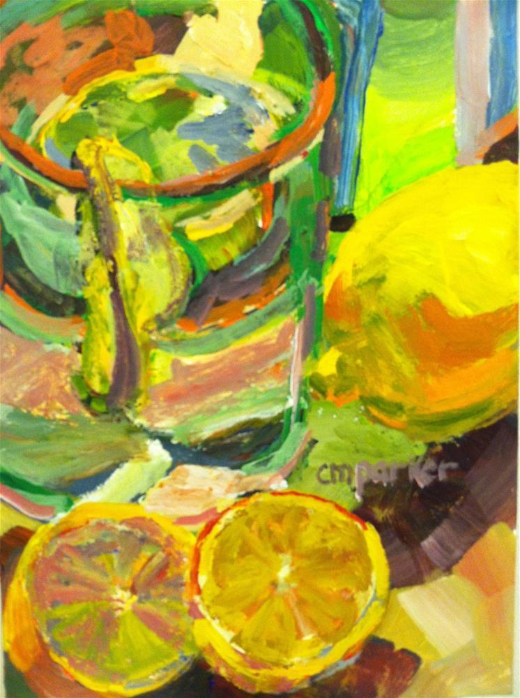 """Citrus Challenge"" original fine art by Christine Parker"
