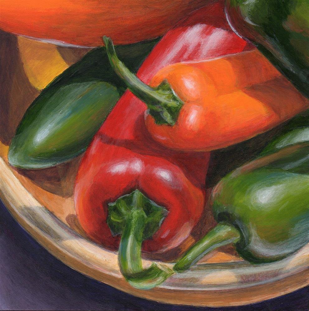 """Pretty Peppers"" original fine art by Debbie Shirley"