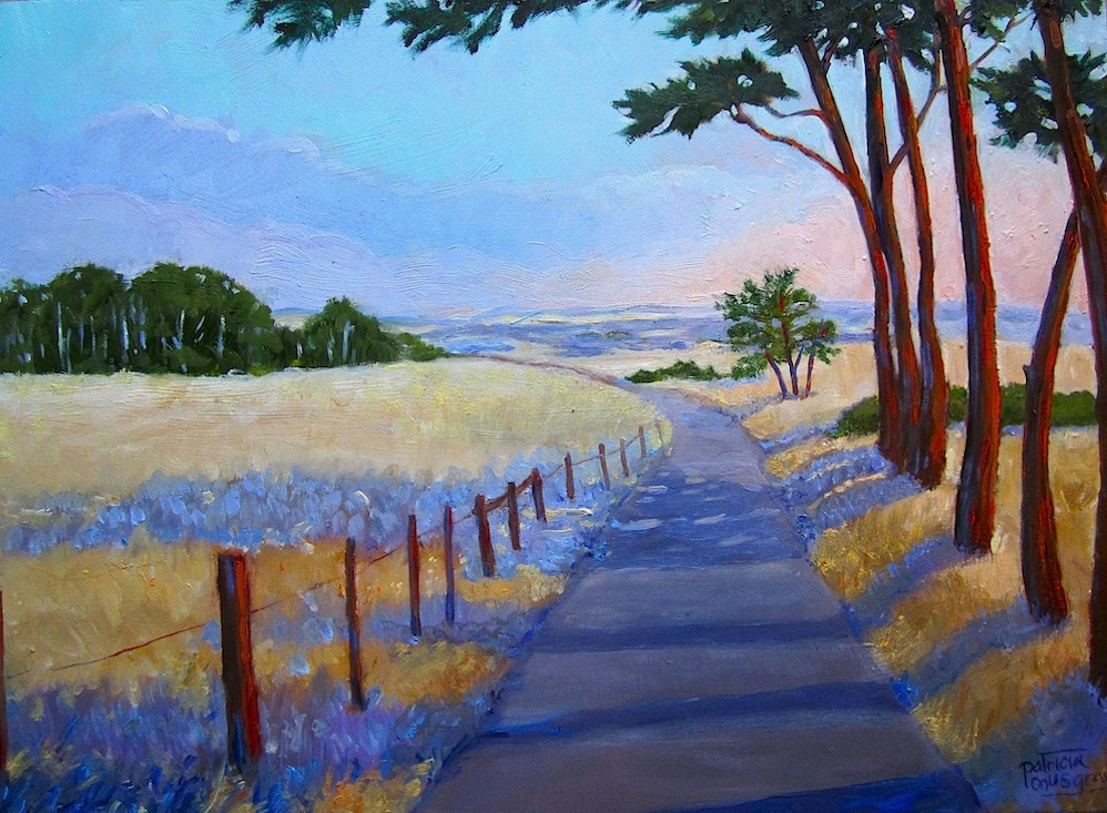 """""""Table Bluff Road"""" original fine art by Patricia Musgrave"""