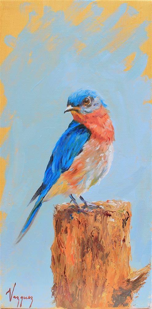 """""""Bluebird"""" original fine art by Marco Vazquez"""