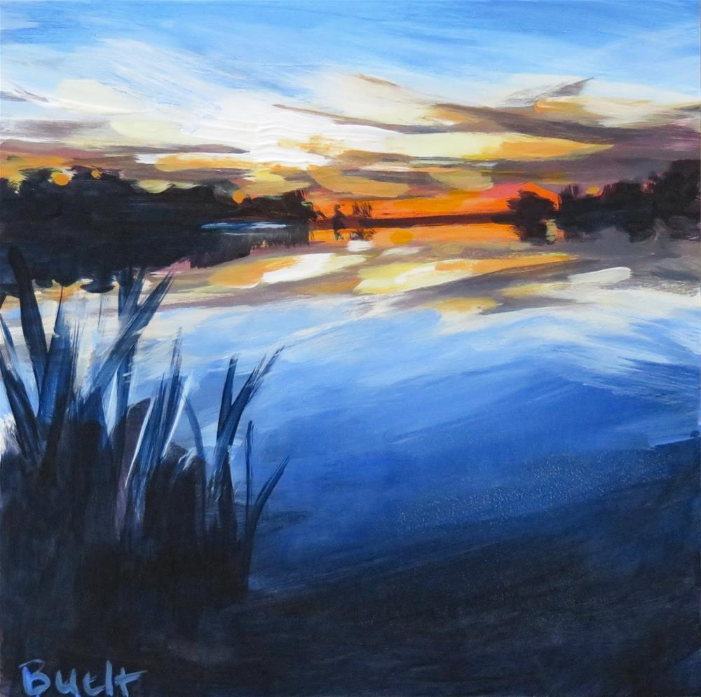 """Sunset Reflections"" original fine art by Shari Buelt"