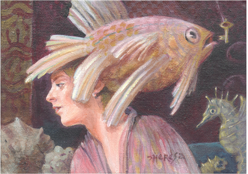 """Fishwife"" original fine art by Theresa Taylor Bayer"