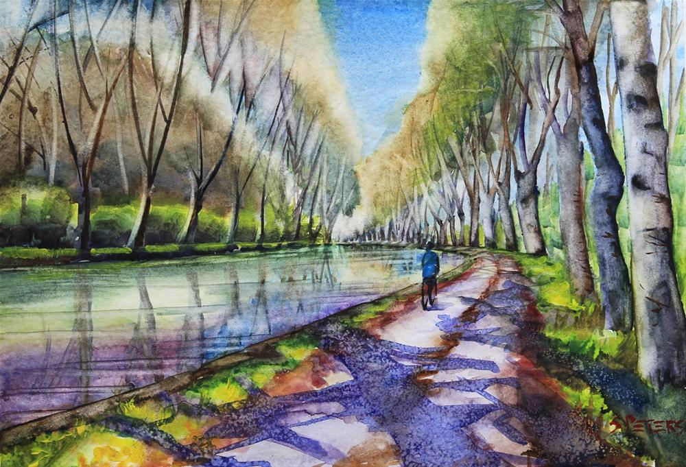 """""""Midday Sun, South France"""" original fine art by Shirley Peters"""