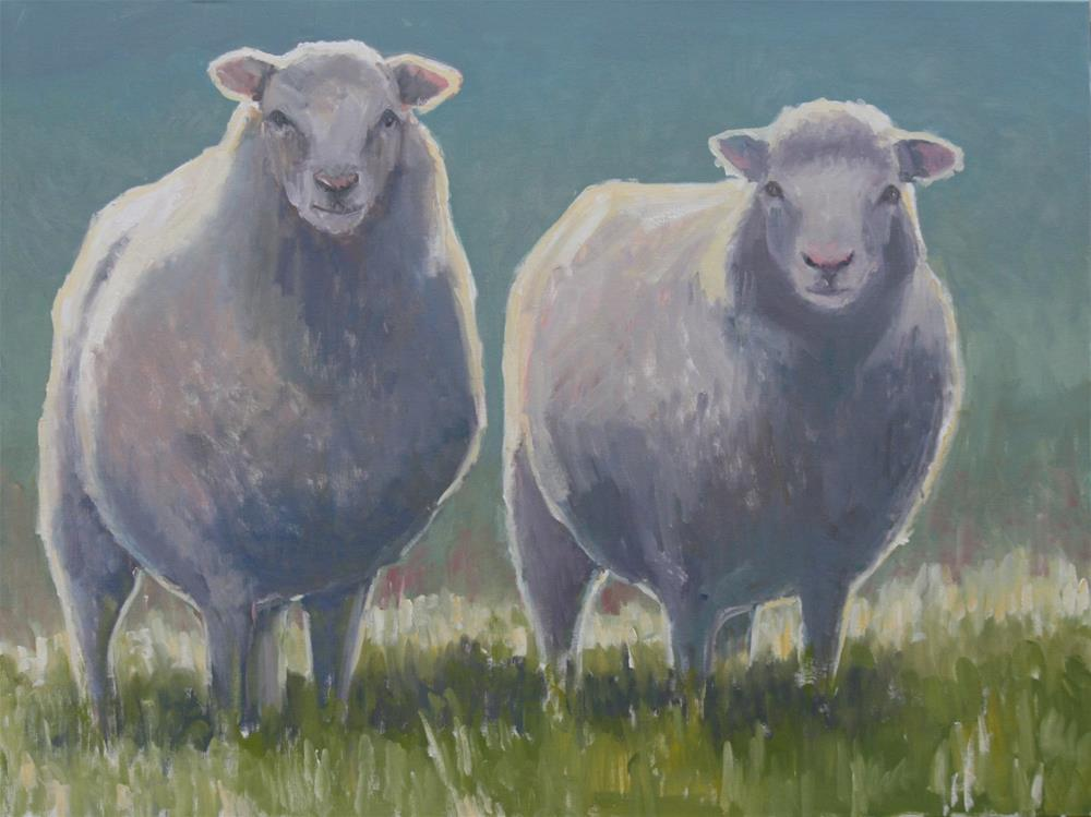 """sheepish"" original fine art by Carol Carmichael"
