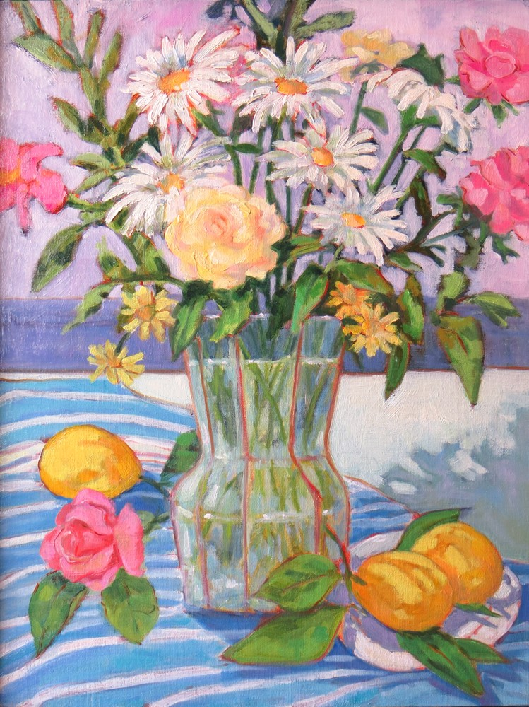 """Daisies and Roses"" original fine art by Rhett Regina Owings"