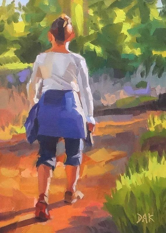 """Morning Trek"" original fine art by Deborah Ann Kirkeeide"