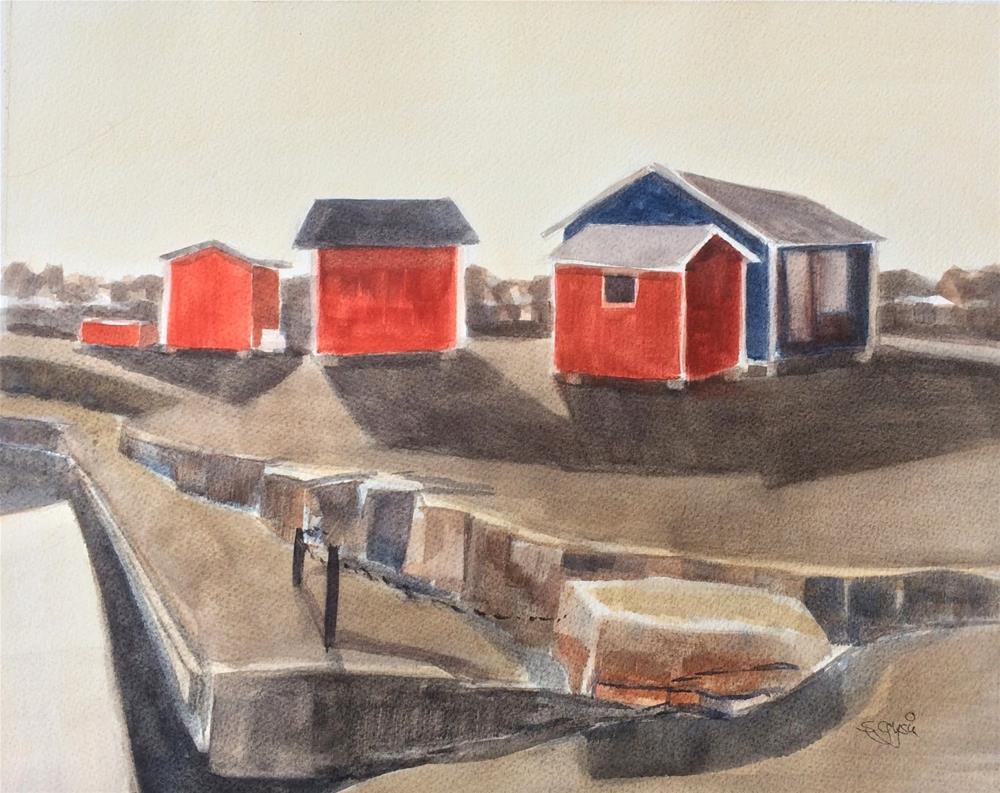 """South Harbor II"" original fine art by Suzanne Gysin"