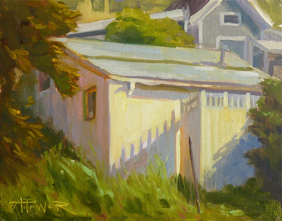 """""""Summerland Roofs"""" original fine art by Anette Power"""