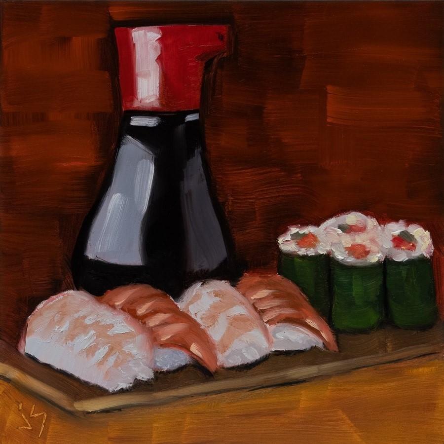 """""""Sushi Craving"""" original fine art by Johnna Schelling"""