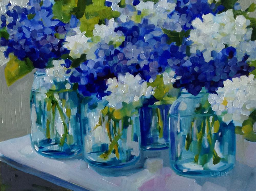 """""""Blue Group"""" original fine art by Libby Anderson"""