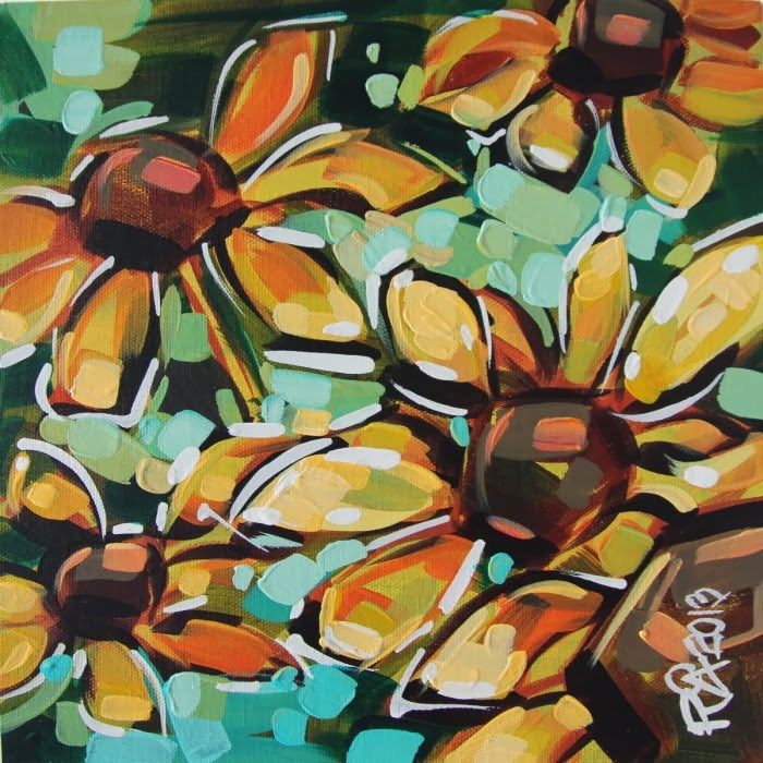 """Flower Abstraction 54"" original fine art by Roger Akesson"