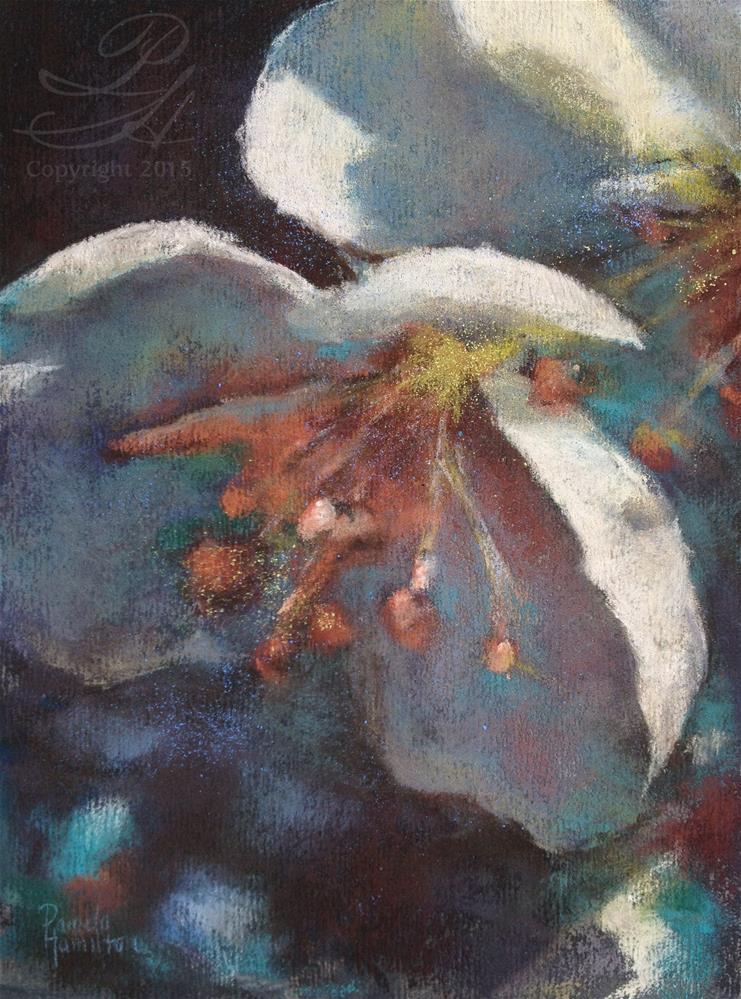 """""""Triptych Blossom, 1"""" original fine art by Pamela Hamilton"""