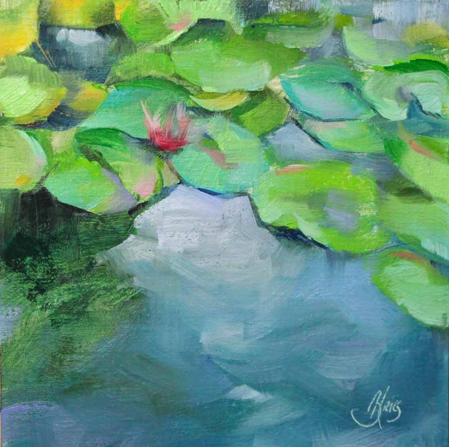 """Water Lilies Study"" original fine art by Pamela Blaies"
