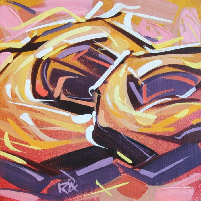 """Bird's Nest Abstraction 45"" original fine art by Roger Akesson"