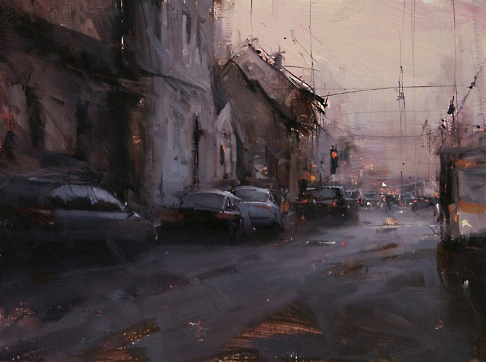 """The Urban Flow"" original fine art by Tibor Nagy"