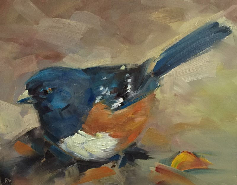 """Hunkered Down for Fall"" original fine art by Patti McNutt"
