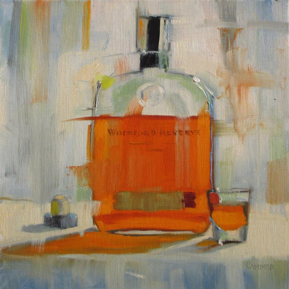 """ A shot of Woodford  8 x 8  oil"" original fine art by Claudia Hammer"