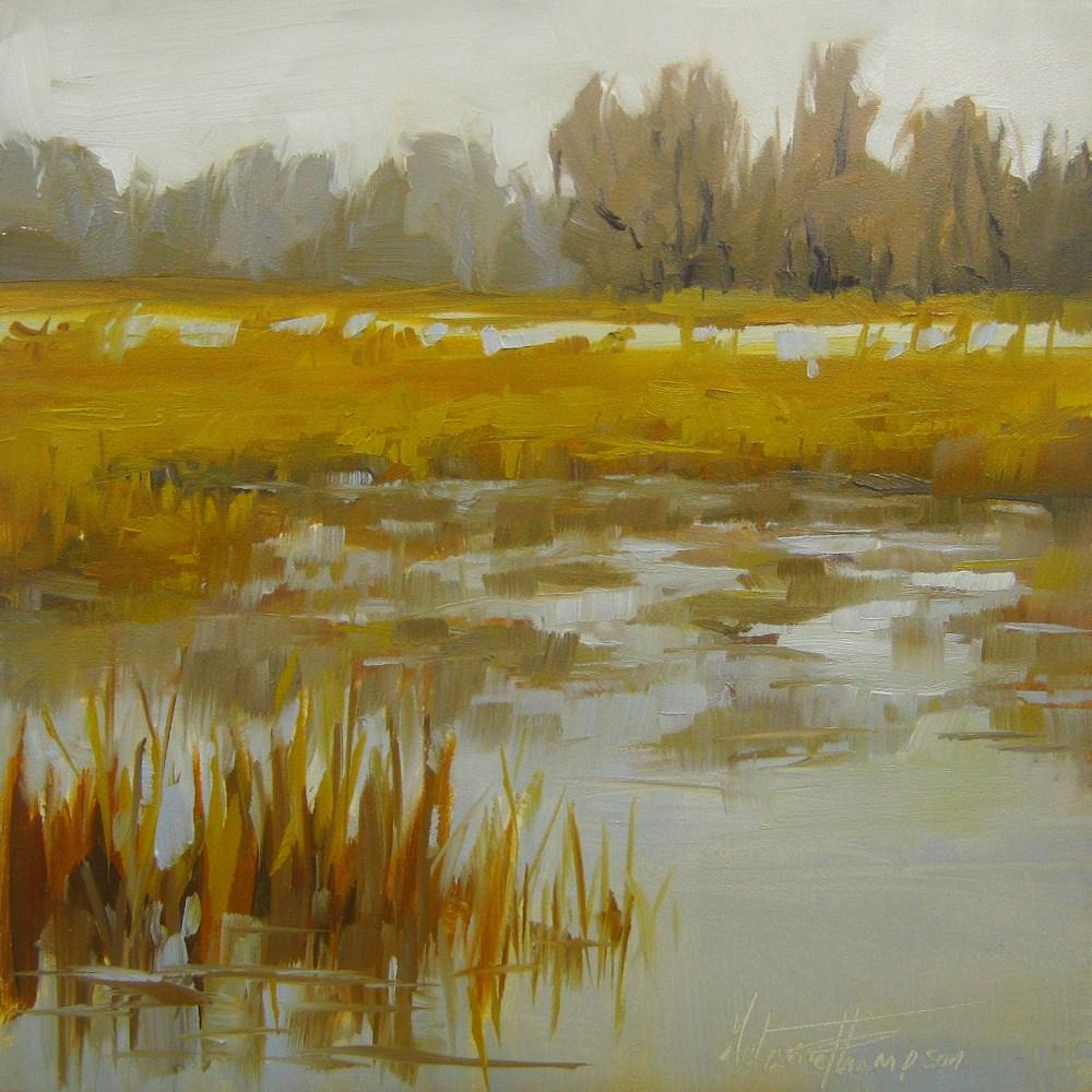 """""""Golden Winter"""" original fine art by Melanie Thompson"""