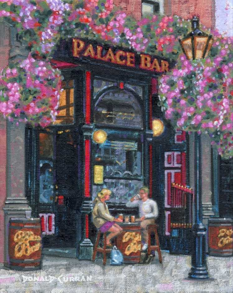 """Palace Bar"" original fine art by Donald Curran"