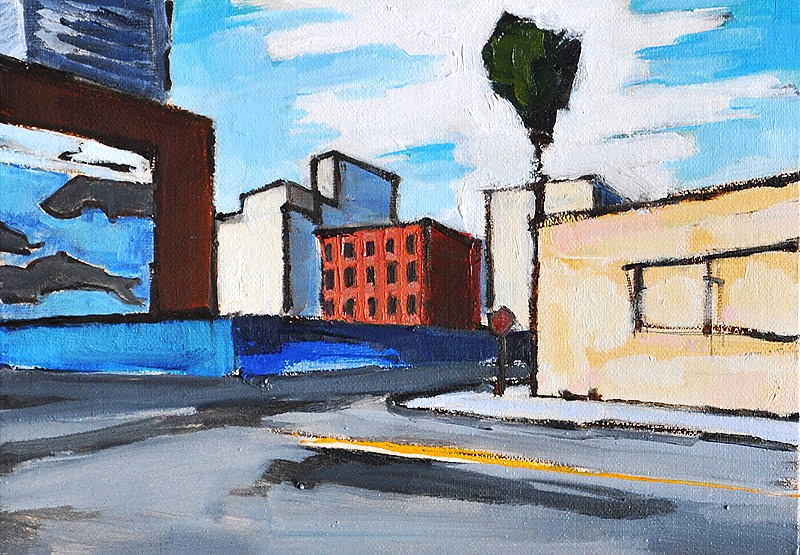 """""""Little Italy Streetscape, San Diego"""" original fine art by Kevin Inman"""