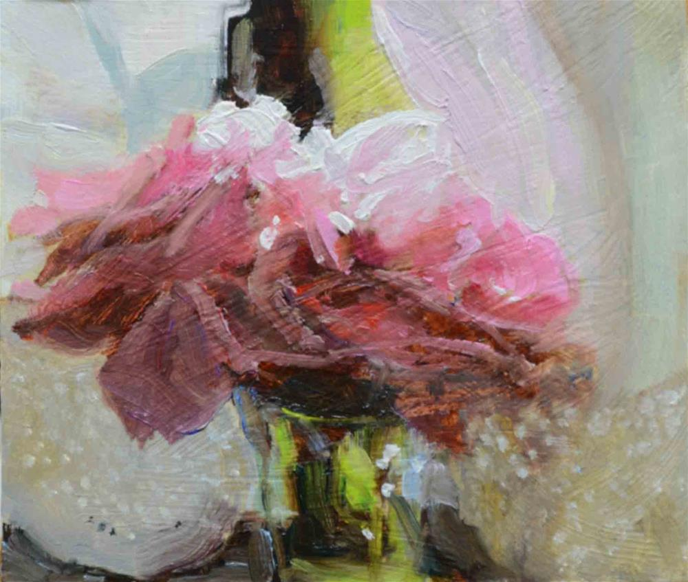"""Roses in Kitchen Window"" original fine art by alicia tredway"
