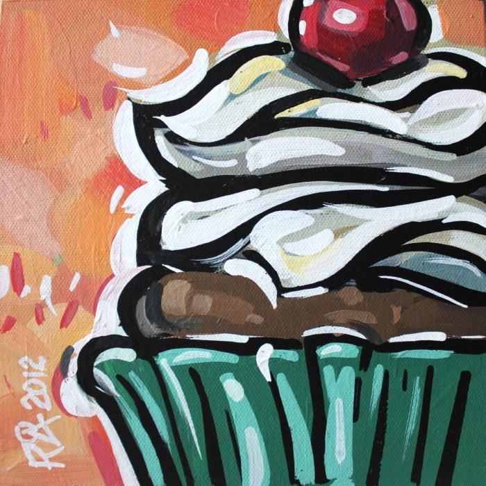 """Cupcake 9"" original fine art by Roger Akesson"