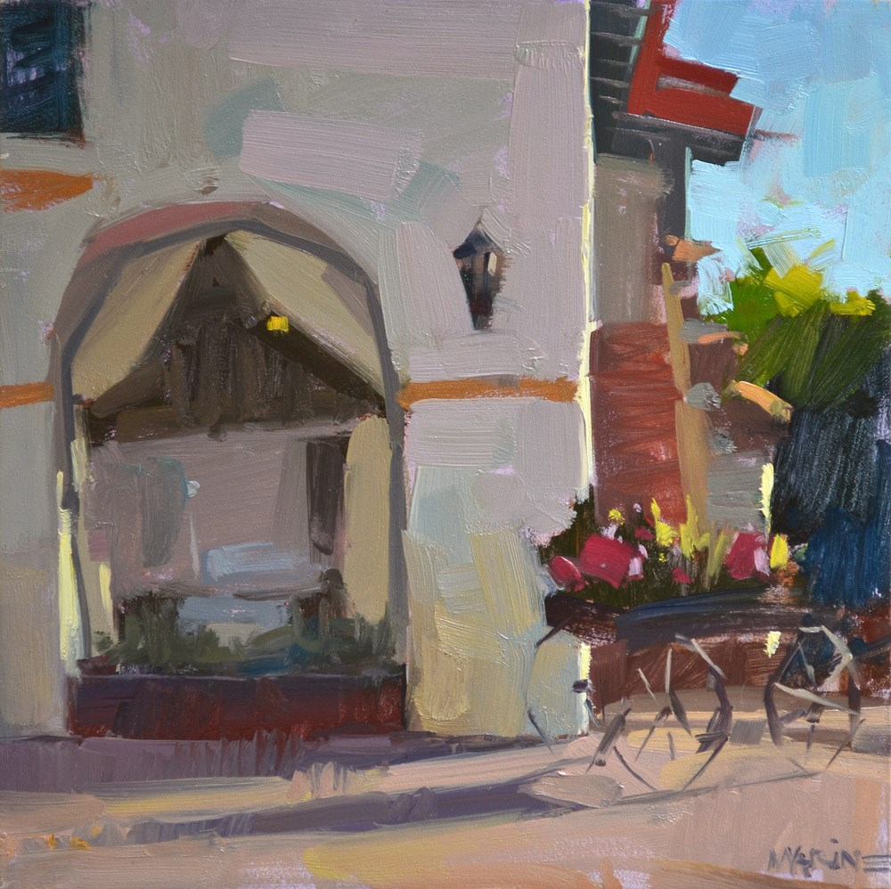 """Old Town"" original fine art by Carol Marine"