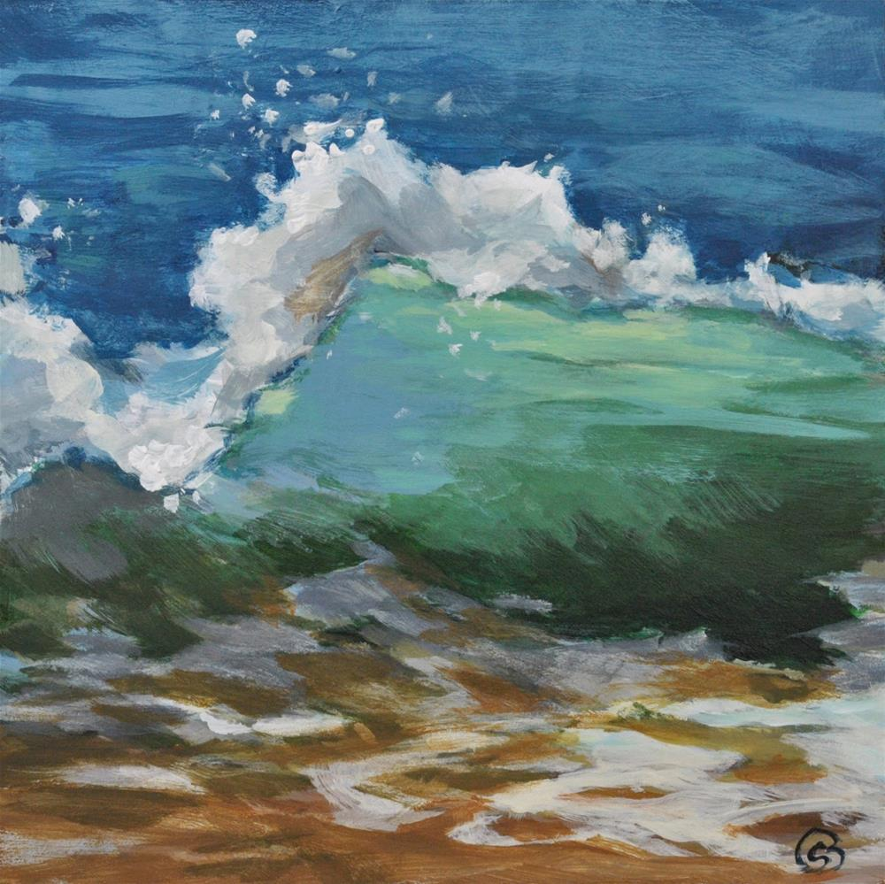 """Saltwater 2"" original fine art by Shari Buelt"