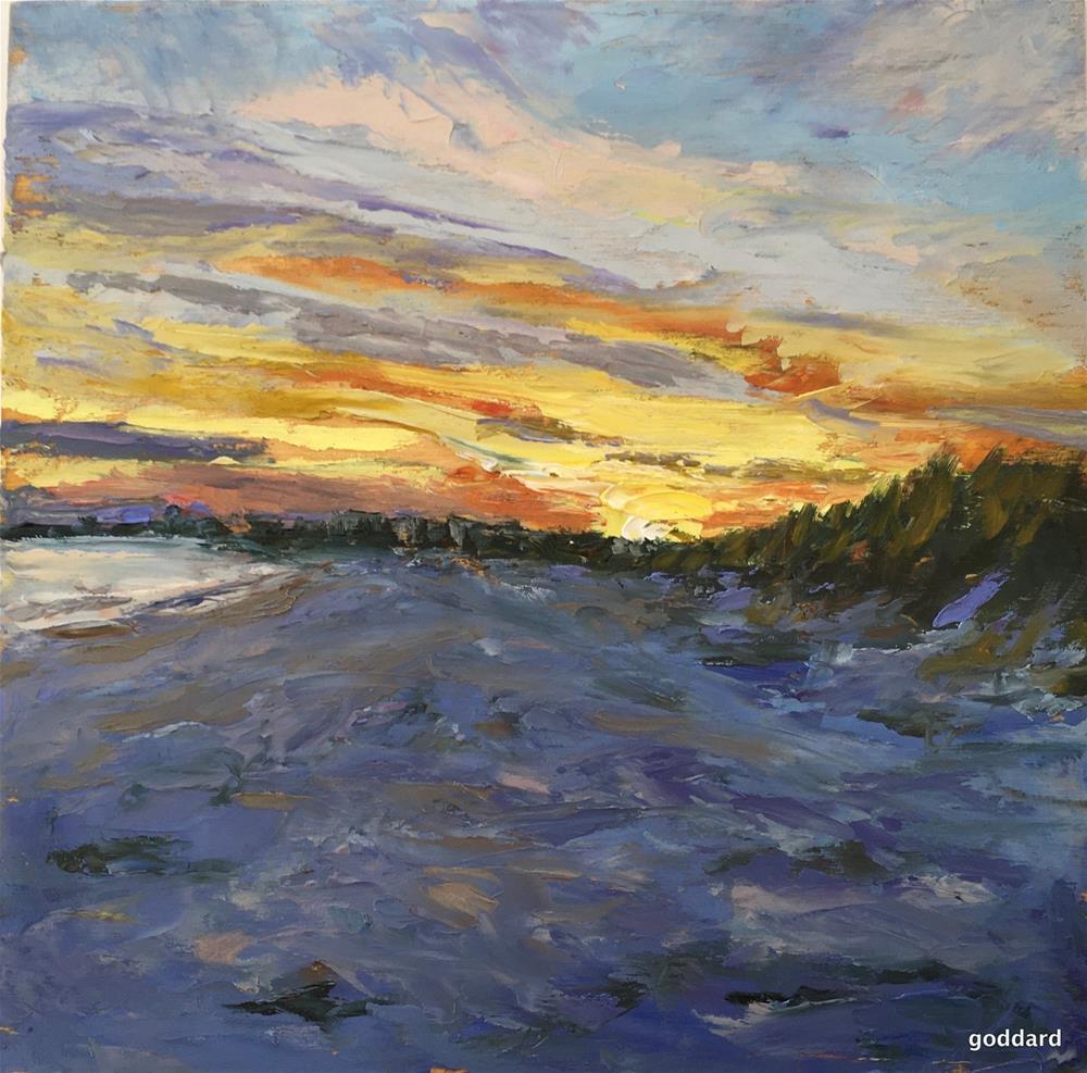 """Old Orchard Sunset"" original fine art by Shari Goddard Shambaugh"