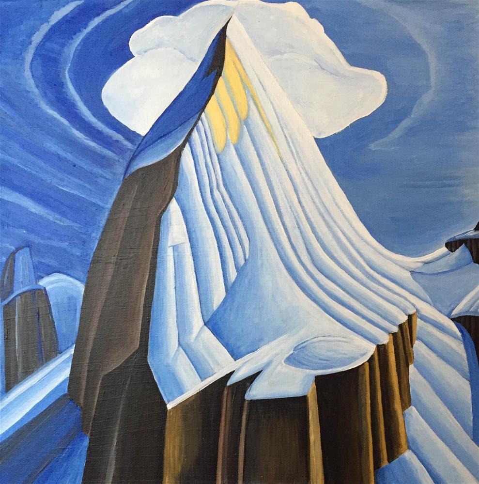 """""""Mount Lefroy"""" original fine art by Helen Kuhn"""