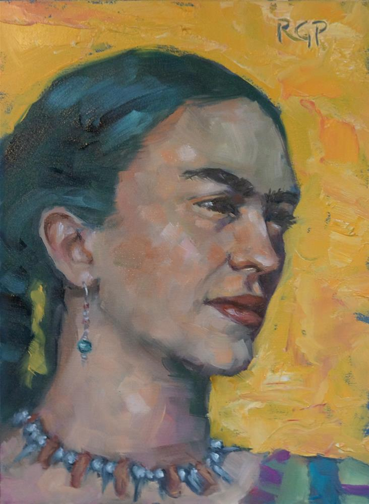 """Young Frida"" original fine art by Rhea  Groepper Pettit"