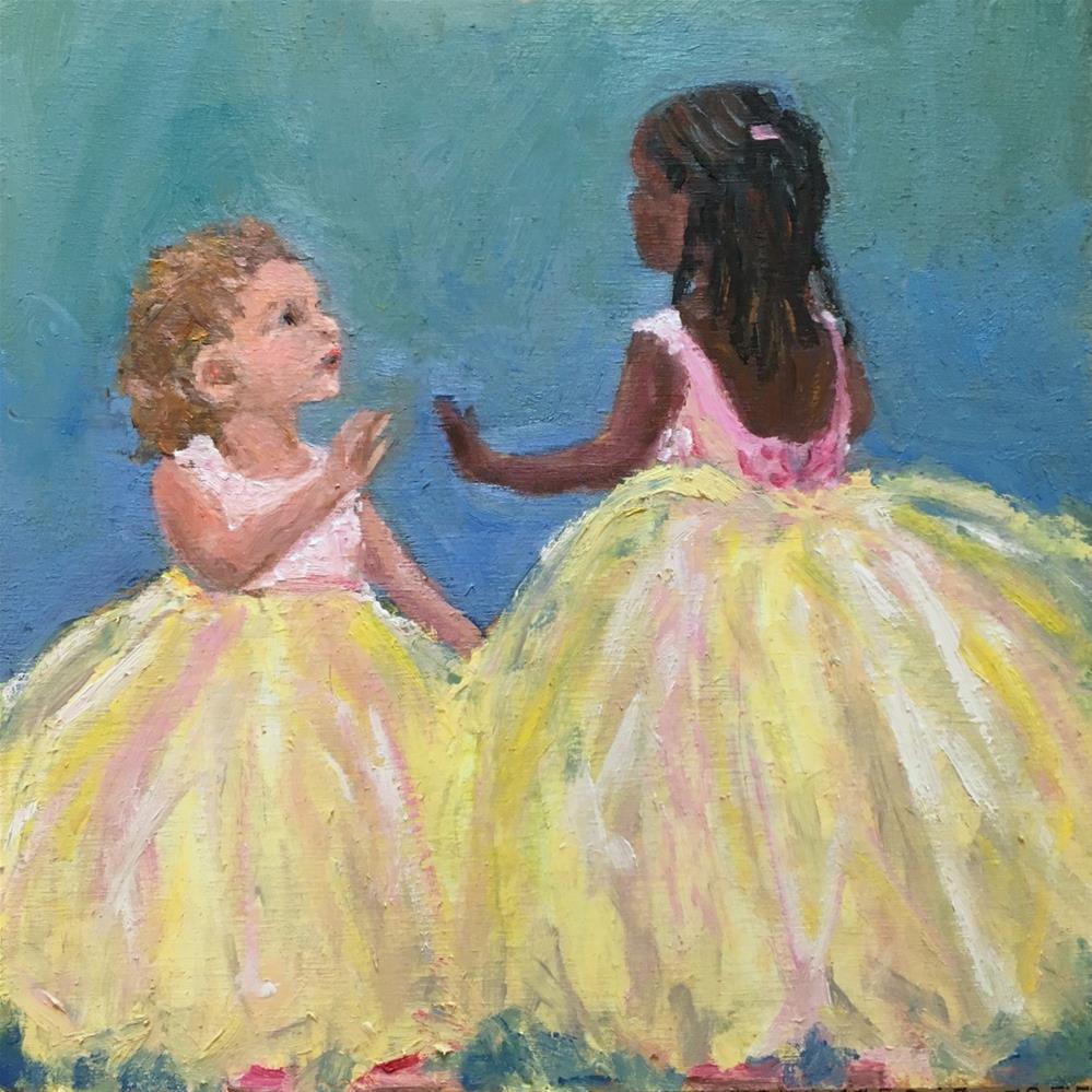 """Flower Girls"" original fine art by Shari Goddard Shambaugh"