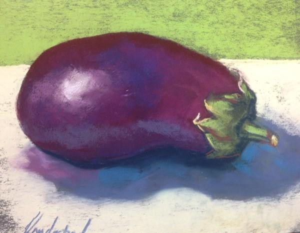 """""""Aubergine"""" original fine art by Karen Vanderpool"""