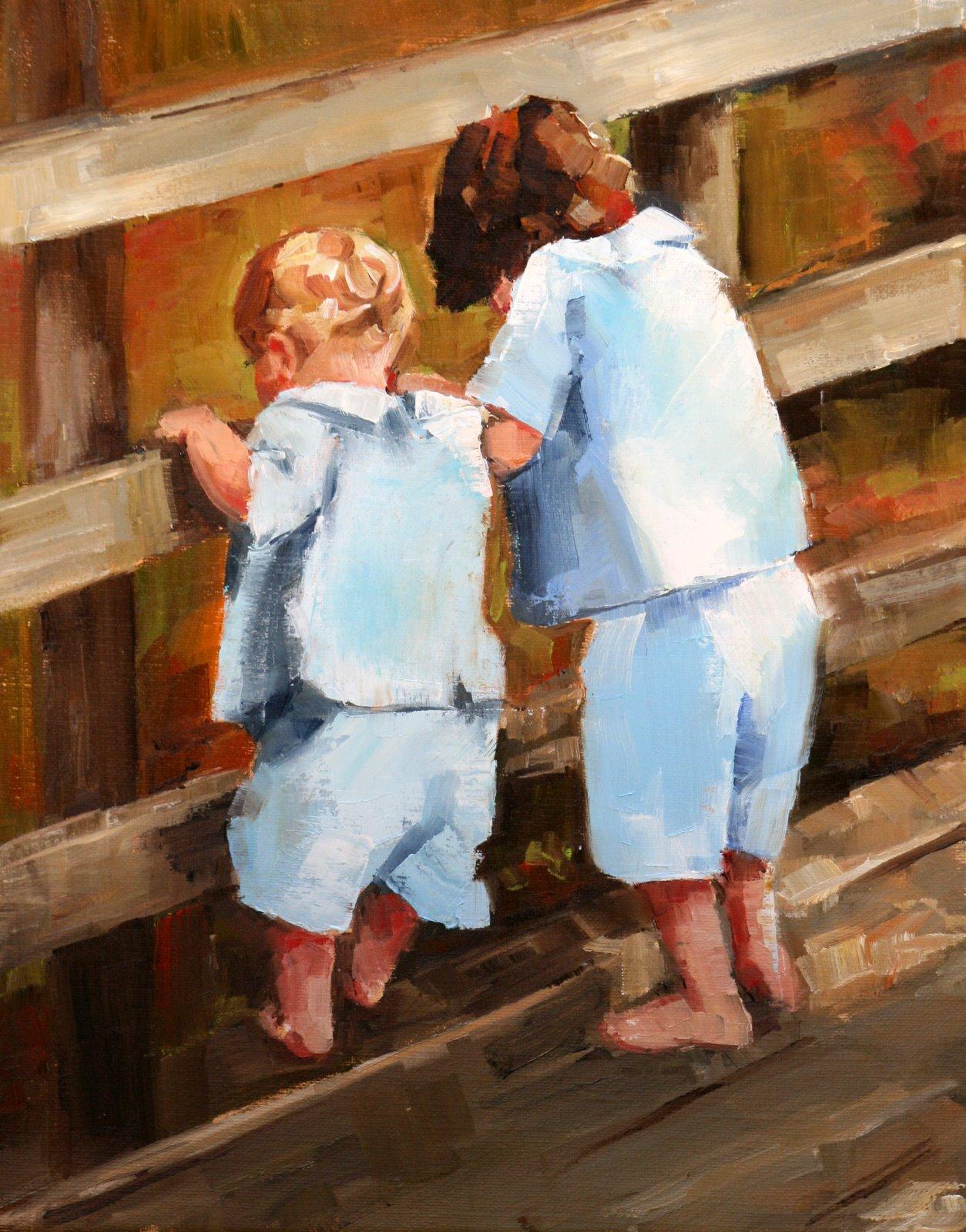 """just a little peek"" original fine art by Carol Carmichael"