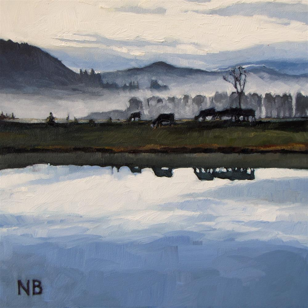 """Foggy Mirror"" original fine art by Nora Bergman"