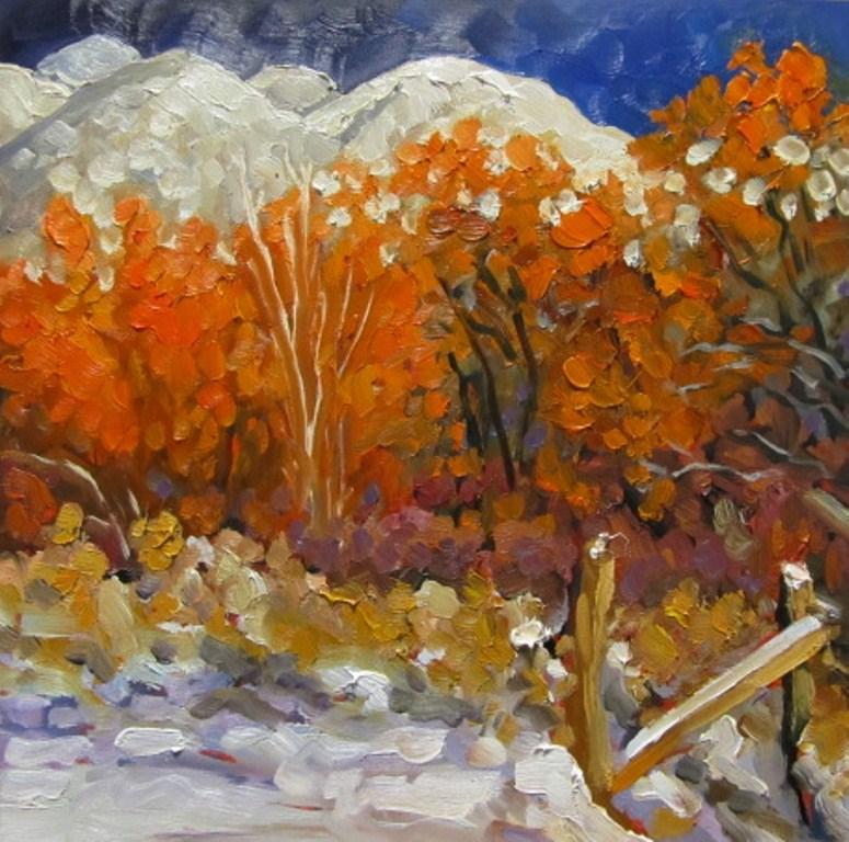 """""""El Salto Snow"""" original fine art by Dee Sanchez"""