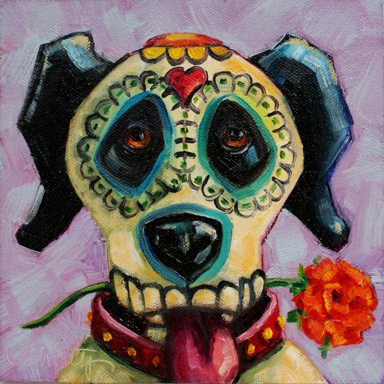 """""""DAY OF THE DOG"""" original fine art by Kristy Tracy"""