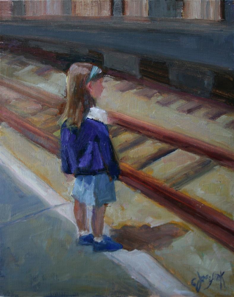 """Out for the Day"" original fine art by Carol Josefiak"