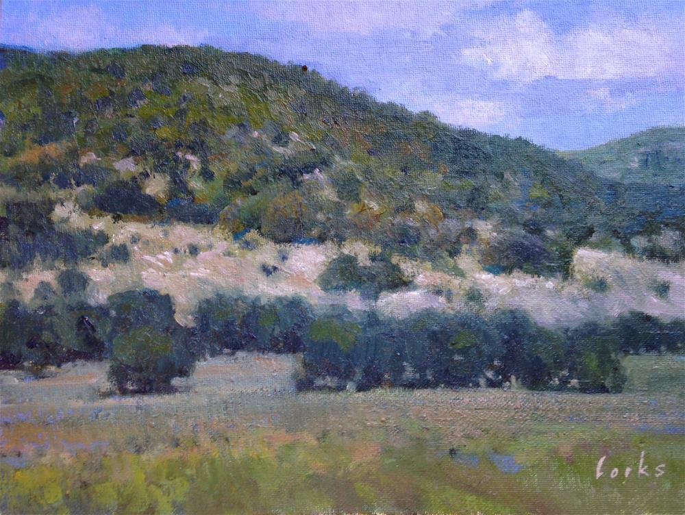 """Hills near Bandera"" original fine art by David Forks"