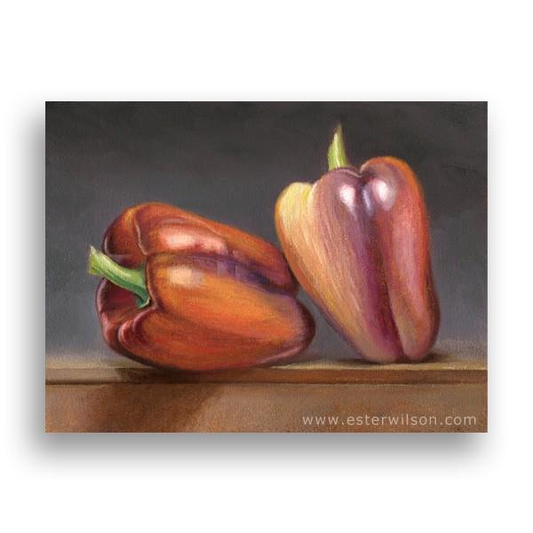 """Peppers"" original fine art by Ester Wilson"