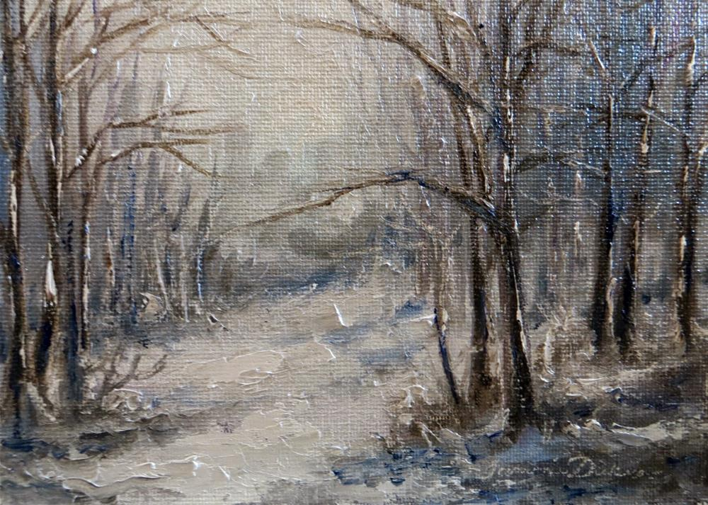 """""""Into the Winter Woods"""" original fine art by Tammie Dickerson"""