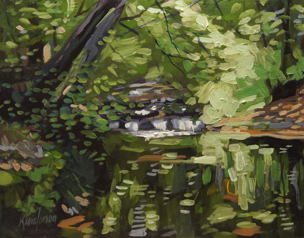 """Forest Stream"" original fine art by Kevin Larson"