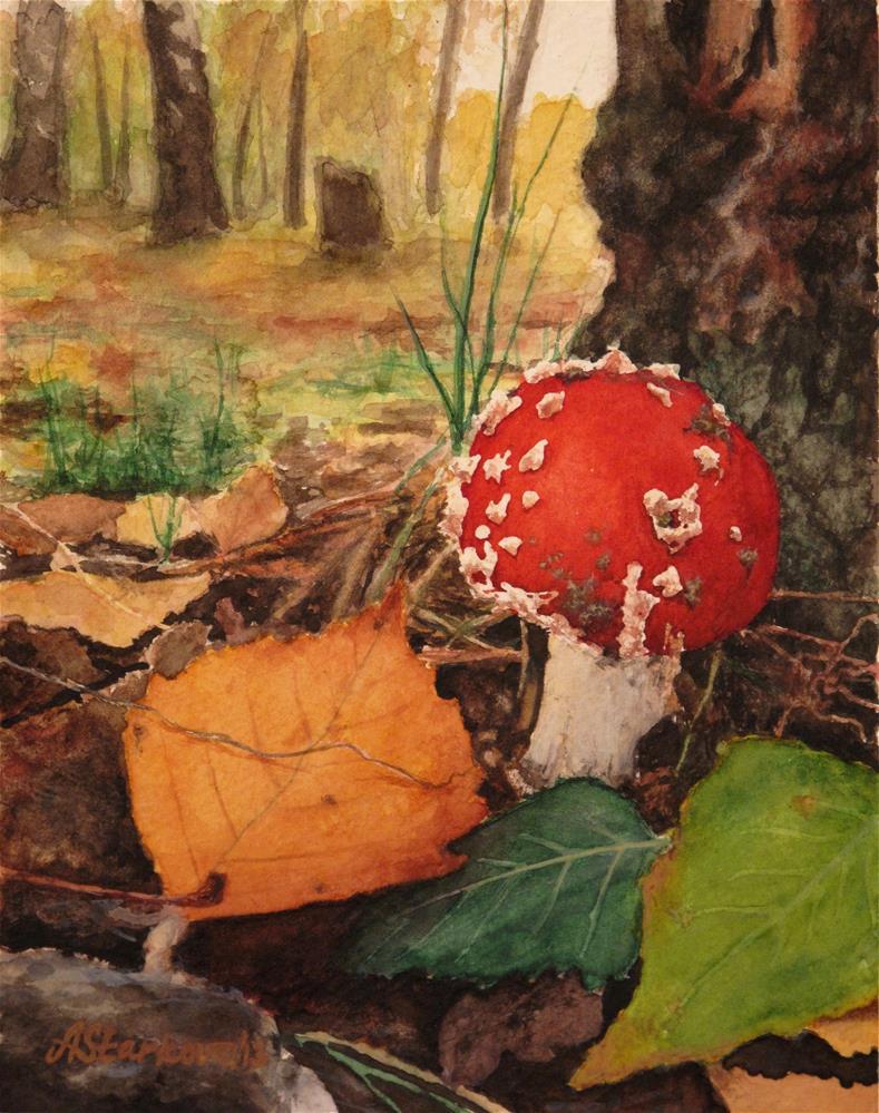 """Amanita"" original fine art by Anna Starkova"
